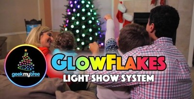 Go from box to amazing holiday light show in three minutes with GeekMyTree GlowFlakes