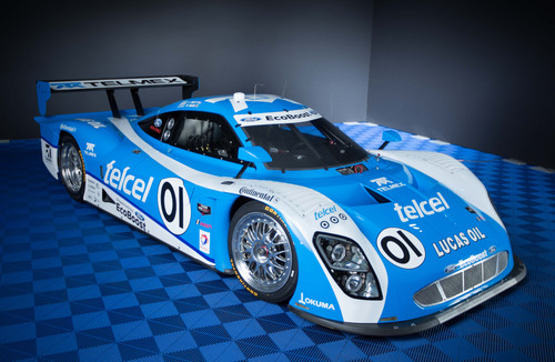 Ford will bring the advanced technology of its 3.5-liter V6 EcoBoost engine to racing in the TUDOR United SportsCar Championship in 2014. Telcel/TELMEX Chip Ganassi Racing with Felix Sabates - winner of seven of the last 10 GRAND-AM Rolex Sports Car Series Daytona Prototype Championships, will switch to the Ford EcoBoost sports car engine package in 2014, with drivers Scott Pruett and Memo Rojas.  (PRNewsFoto/Ford Motor Company)