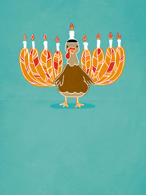Happy Thanksgivukkah from justWink by American Greetings!  (PRNewsFoto/American Greetings Corporation)