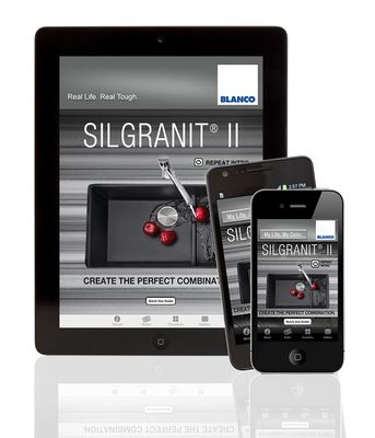 BLANCO expands content and creativity on its popular SILGRANIT(R) II Mobile Color App with more countertops to mix and match with sinks. (PRNewsFoto/BLANCO)