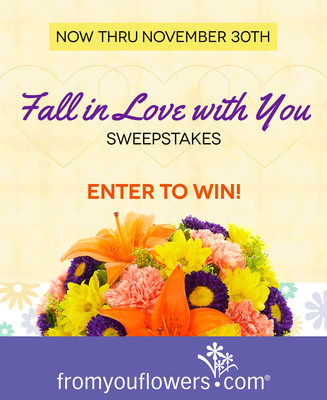 Win the Ultimate Pampering Prize with the Fall in Love with You Sweepstakes, Hosted by From You Flowers (PRNewsFoto/FromYouFlowers.com)