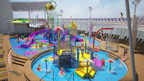 Royal Caribbean International will amp up the adventure when the cruise line debuts Harmony of the Seas, the world's largest cruise ship and the first to feature Splashaway Bay an interactive aqua park for kids. Splashaway Bay will be a vibrant waterscape for kids and toddlers with sea creature water cannons, winding slides, a gigantic drench bucket and a multi-platform jungle-gym to keep everyone entertained for hours.