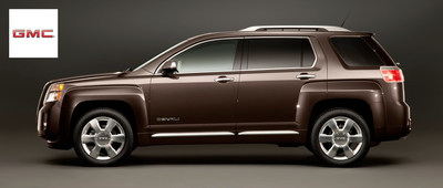 The 2015 GMC Terrain shows off a similar build and the capabilities to that of a fullsize luxury SUV. (PRNewsFoto/Briggs Buick GMC)