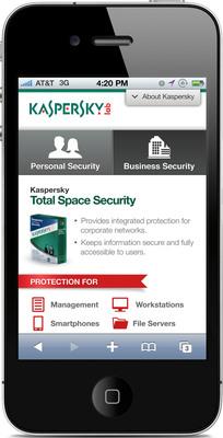 Kaspersky Lab U.S. Mobile Product Page