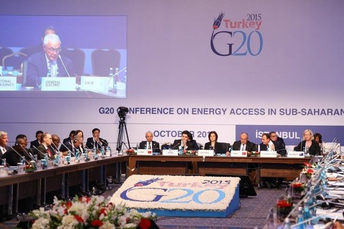 A High-Level Conference on Energy Access in Sub-Saharan Africa was held on October 1st. The Conference brought together G20 Energy Ministers, Energy Ministers from Sub-Saharan African countries, representatives from international and regional energy organizations, private sector representatives engaged in Sub-Saharan Africa and financial institutions. The Conference included a Business Forum and discussions focused on improving energy investment climate and concrete projects in the region. (PRNewsFoto/G20 Turkish Presidency) (PRNewsFoto/G20 Turkish Presidency)