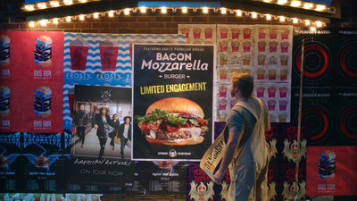 To celebrate its new limited-time Bacon Mozzarella Burger, Wendy's(R) just posted a video to its Facebook and Twitter pages with an exclusive new track from American Authors. The surprise debut is part of Wendy's integrated marketing campaign for the Bacon Mozzarella Burger focused on engaging fans in entertaining, unexpected ways. The new burger takes Wendy's signature Applewood Smoked Bacon and fresh, never frozen beef* and turns up the volume with a creamy and sweet natural mozzarella and garlic parmesan cheese spread, all sandwiched between a toasted, garlic brioche bun. *Fresh beef available in the contiguous U.S. and Canada.