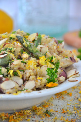 Asparagus and Potato Quinoa Salad with Orange Parsley Dressing from the Idaho Potato Commission.