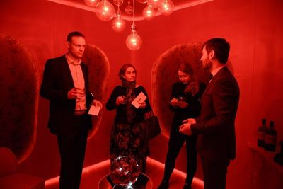 Participants in the red room