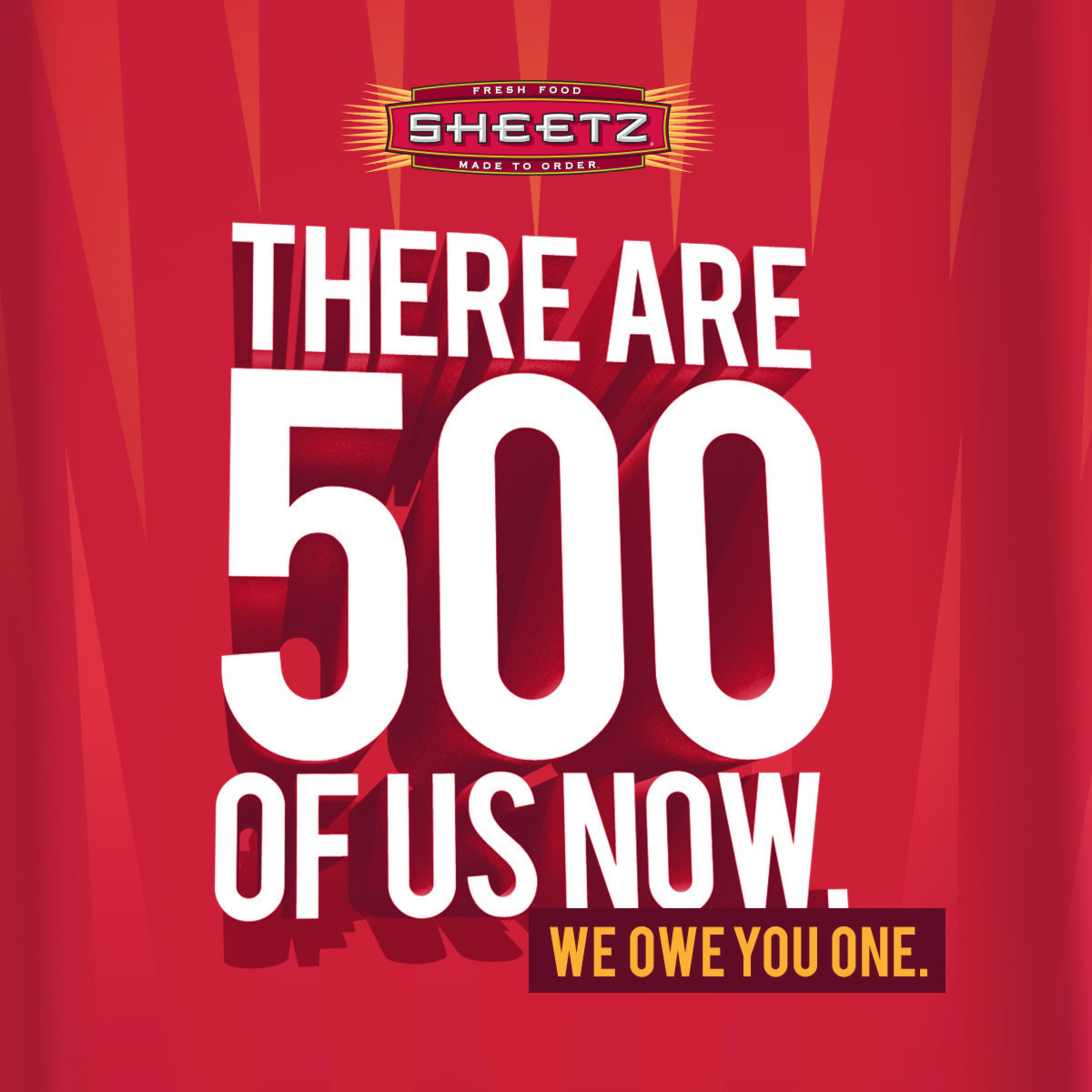 Sheetz celebrates its 500th store with free coffee and fountain drinks in all stores on Tuesday, February 24, 2015.