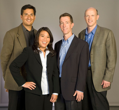The Correlation Ventures management team (from left to right): Anu Pathria, Ph.D., Grace Chui-Miller, David Coats, and Trevor Kienzle (San Diego, Correlation Ventures).  (PRNewsFoto/Correlation Ventures)