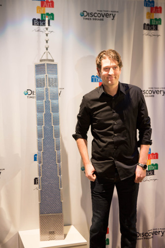 Artist Nathan Sawaya Unveils Latest Piece at THE ART OF THE BRICK.  (PRNewsFoto/Discovery Times Square)