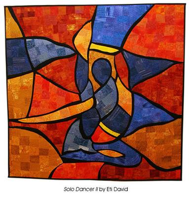 Solo Dancer II by Eti David. (PRNewsFoto/National Quilt Museum)
