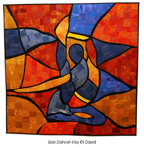 Solo Dancer II by Eti David. (PRNewsFoto/National Quilt Museum) (PRNewsFoto/NATIONAL QUILT MUSEUM)