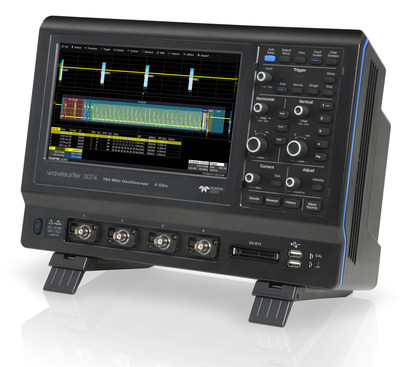 New Teledyne LeCroy CAN FD trigger and decode option for the popular WaveSurfer 3000 oscilloscope uses a color coded overlay that clearly identifies different parts of the data being captured, allowing the user to quickly identify CAN FD data such as Frame IDs, status bits, and message data.
