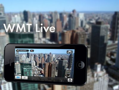 Mobile Viewpoint launches iPhone app for live newsgathering; WMT Live (PRNewsFoto/Mobile Viewpoint B.V.)