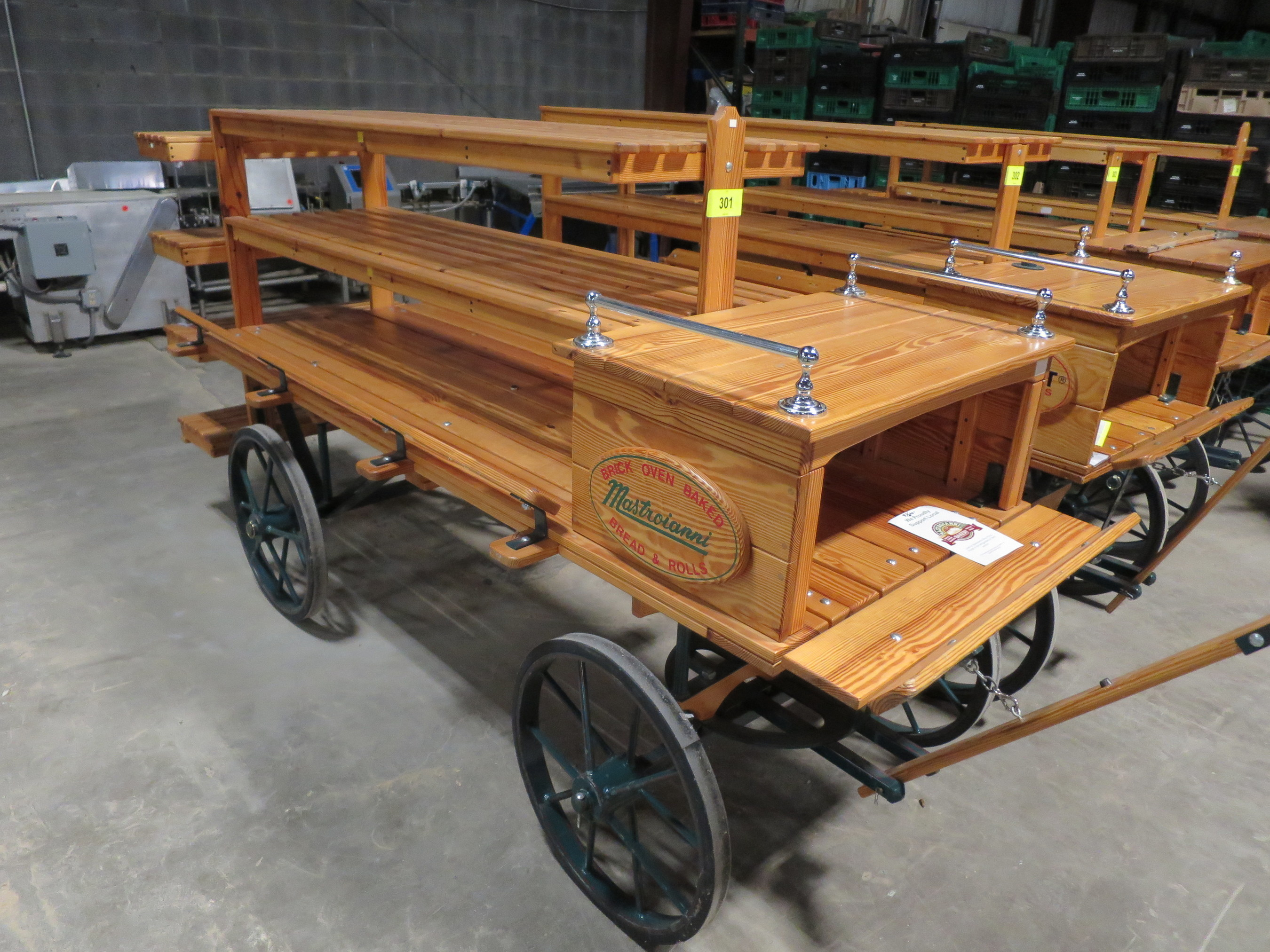 Handmade Merli Carriage Company carts, available for auction with Rabin Worldwide starting Nov 28, 2016