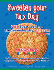 Great American Cookies Sweetens Tax Day 2015 With One Free Sugar Cookie for Customers!