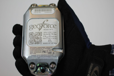 Geoforce GT-1 Asset Tracker is a globally certified, rugged device designed specifically with the harsh environment of oil and gas in mind.  (PRNewsFoto/Geoforce, Inc.)