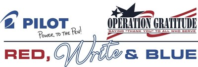 Pilot Pen partners with Operation Gratitude for Red, Write and Blue thank you letter initiative for U.S. Service Members and $1.8 million pen donation. Visit PowertothePen.com/Gratitude to participate.