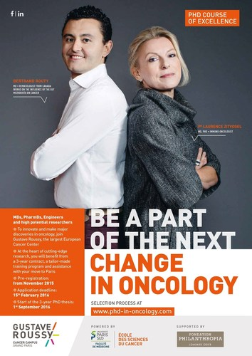 Be a part of the next Change in Oncology (PRNewsFoto/Gustave Roussy) (PRNewsFoto/Gustave Roussy)
