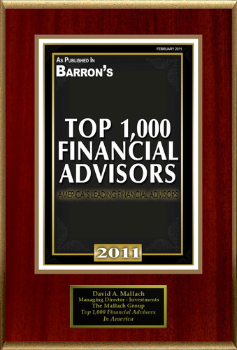 David Mallach Selected for 'Top 1,000 Financial Advisors'