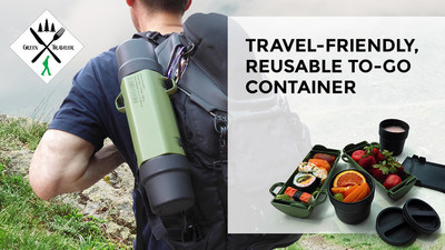Travel-friendly, reusable to-go container