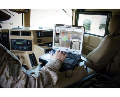 Insitu's Common Open-mission Management Command and Control (ICOMC2) operates multiple aircraft and unmanned ground vehicles from one workstation controlled by a single operator. (PRNewsFoto/Insitu)