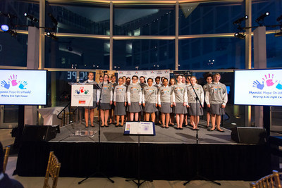 The Children's Chorus of Washington Performs for Celebration of Life Gala Attendees