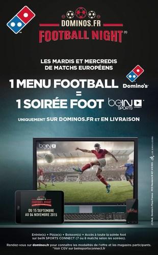 Domino's Pizza Football Night Menu (PRNewsFoto/Domino's Pizza France) (PRNewsFoto/Domino's Pizza France)