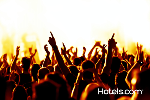 Hotels.com and Music Festival Junkies pick the best summer concerts for travelers in top U.S. cities (PRNewsFoto/Hotels.com)