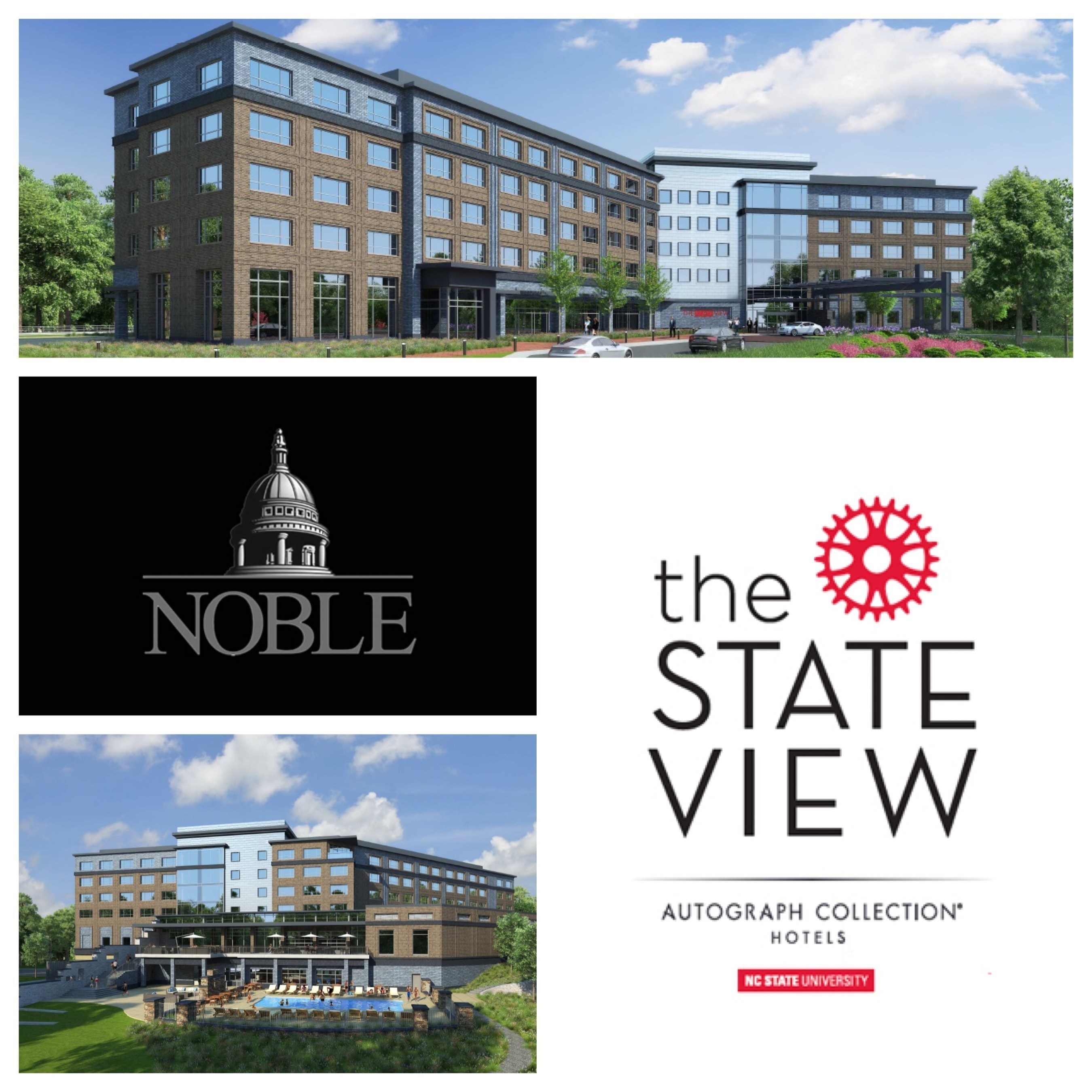 The StateView Hotel breaks ground. The hotel will be centrally located on North Carolina State University's Centennial Campus in Raleigh, North Carolina.