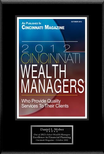"Daniel L. Weber Selected For ""2012 Cincinnati Select Wealth Managers"".  (PRNewsFoto/American Registry)"