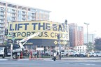 Here's a behind the scenes shot of the Canary export ban wallscape at NY Avenue and 6th St Washington D.C.