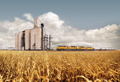 Union Pacific Railroad is ready to transport America's record crop harvest.  (PRNewsFoto/Union Pacific)