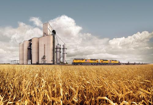 Union Pacific Railroad is ready to transport America's record crop harvest.  (PRNewsFoto/Union Pacific)