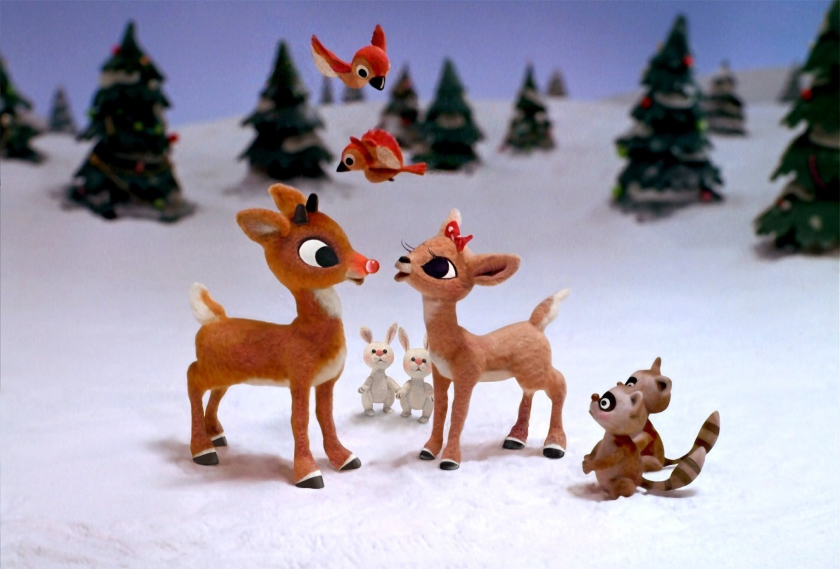 """The classic holiday special """"Rudolph the Red-Nosed Reindeer"""" celebrates its 50th anniversary with a new DVD and Blu-ray, featuring brand-new bonus features.  It's available Nov. 4, 2014.  Rudolph the Red-Nosed Reindeer(c) and (r) The Rudolph Co., L.P.  """"Rudolph the Red-Nosed Reindeer"""" animated program(c) Classic Media, LLC. All rights reserved. (PRNewsFoto/DreamWorks Animation)"""