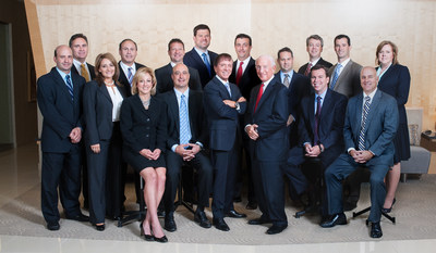 Super Lawyers recognizes 14 Elk & Elk Attorneys, 5 named to Top 100 Ohio / Top 50 Cleveland Super Lawyers lists. FRONT ROW (L TO R): Kevin Lenson, Amy Papesh, Marilena DiSilvio, Phillip Kuri, Arthur Elk, David Elk, James Kelley, John O'Neil; BACK ROW: William Campbell, Gary Cowan, Rob Dubyak (Of Counsel), R. Craig McLaughlin, William Price, Ryan Harrell, Matthew Carty, Michael Eisner, Kimberly Young (Photo credit: Nannette Bedway/Nannette Bedway Studio)