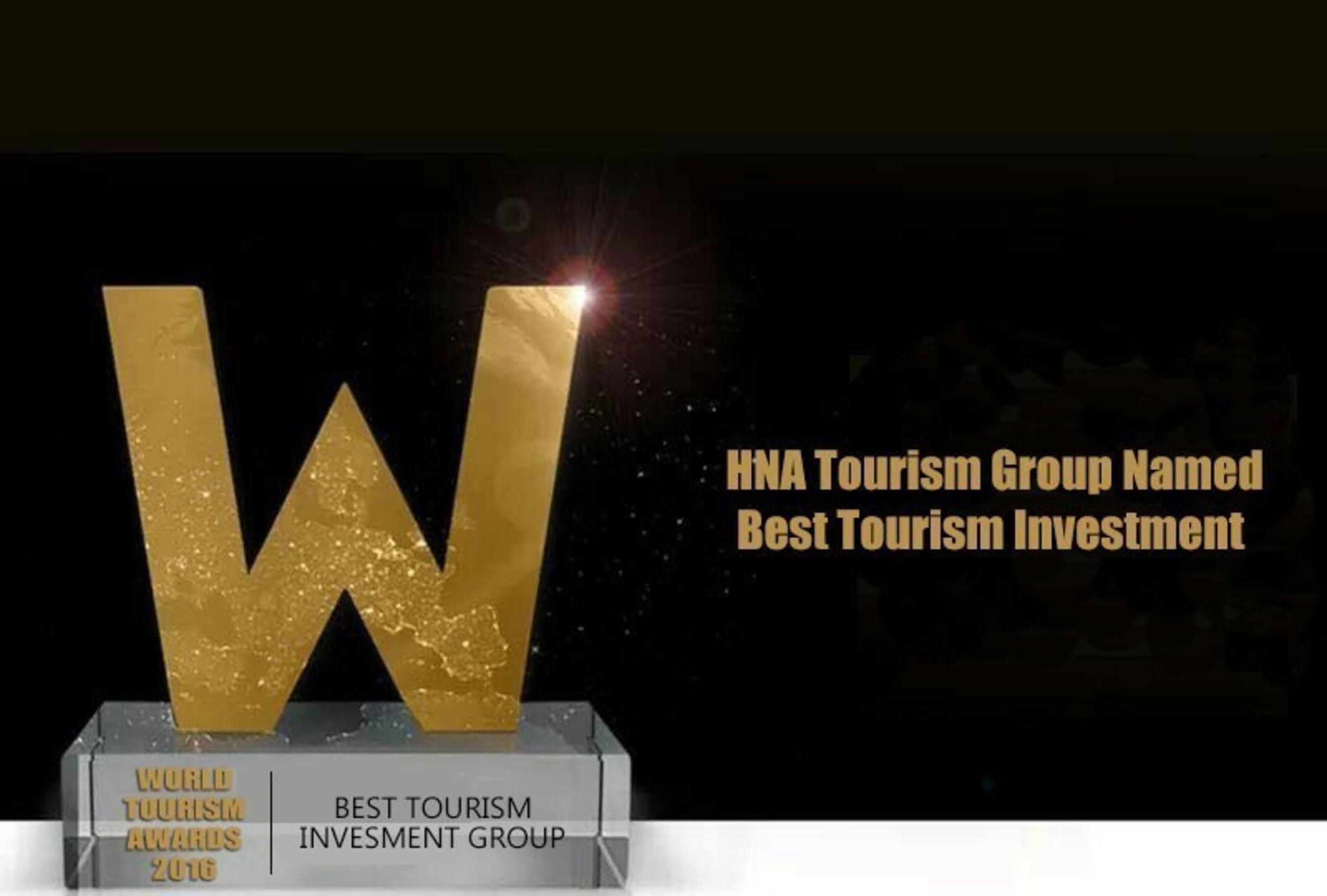 HNA Tourism es elegido Best Tourism Investment Group en el 2016 World Tourism Forum