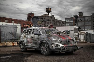 HYUNDAI UNVEILS FAN-DESIGNED ZOMBIE SURVIVAL MACHINE AT NEW YORK COMIC CON.  (PRNewsFoto/Hyundai Motor America)