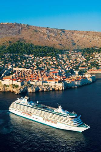 Crystal Serenity in Dubrovnik, Croatia.  (PRNewsFoto/Crystal Cruises)
