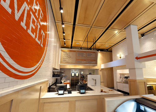 Inside of resturant -  The Melt at 115 New Montgomery Street, San Francisco, Calif.  (PRNewsFoto/THE MELT, ...