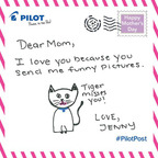 "Tell us one reason you love your mom using #PilotPost on the official Pilot Facebook (Pilot Pen), Twitter (@PilotPenUSA) and Instagram (@PilotPenUSA), and we'll create a personalized handwritten card just for her. Let Pilot Pen do it the ""write"" way.  (PRNewsFoto/Pilot Corporation of America)"