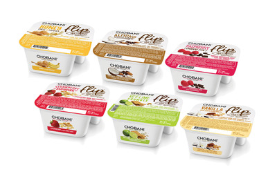 Now available in the Northeast US, Chobani Flip is the first two-vessel package from Chobani that includes blended authentic strained Greek yogurt with a dynamic flavor mix-ins like Key Lime low-fat yogurt with graham crumbles and white chocolate.  (PRNewsFoto/Chobani)