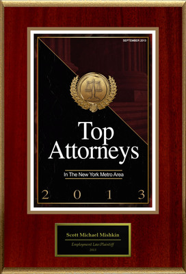 Attorney Scott Michael Mishkin Selected for List of Top Rated Lawyers in NY. (PRNewsFoto/American Registry) (PRNewsFoto/AMERICAN REGISTRY)