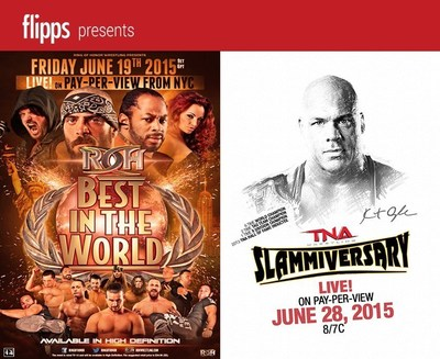 ROH and TNA on Flipps