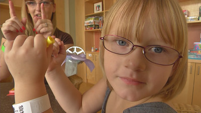 Four-year-old Khloe Cline's eyesight was saved by a new technique for treating retinoblastoma.