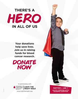 Santino, age 7, acute lymphoblastic leukemia survivor.