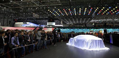 Press conference of the nanoFLOWCELL AG with the new QUANT e-Sportlimousine at the Geneva Motor Show 2014 (PRNewsFoto/nanoFLOWCELL AG)
