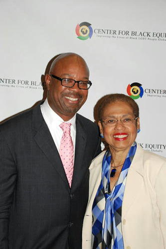Washington, D.C. Congresswoman, Eleanor Holmes Norton, joins Earl Fowlkes, President and CEO, Center for Black Equity, formerly International Federation of Black Pride, at an October 11, 2012 event announcing the organizations new name and outlining new  ...