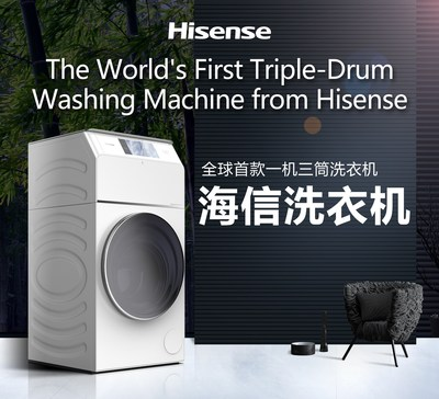 The World's First Triple-Drum Washing Machine from Hisense